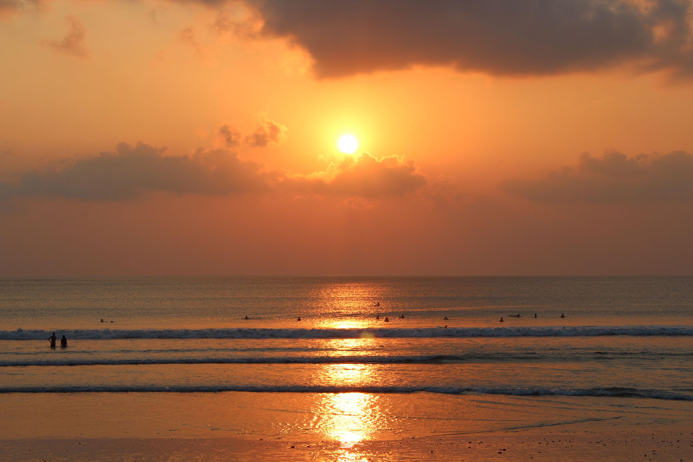 Kuta coucher soleil