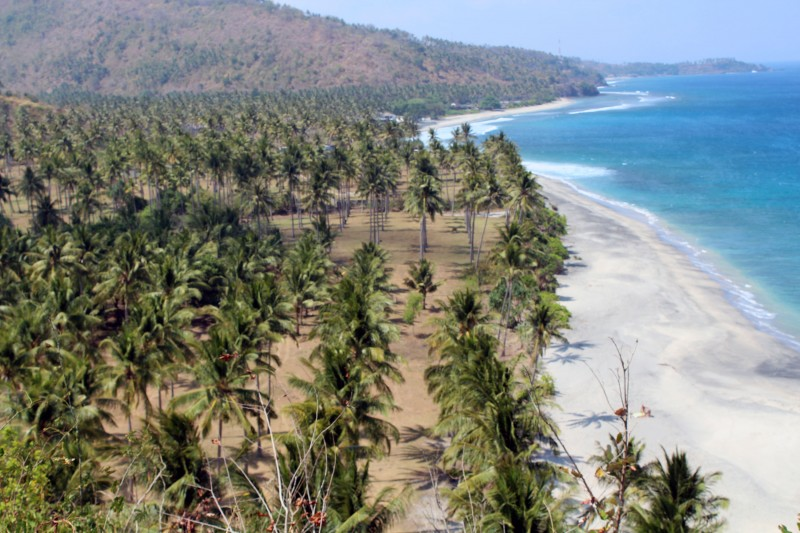 Lombok cote plage