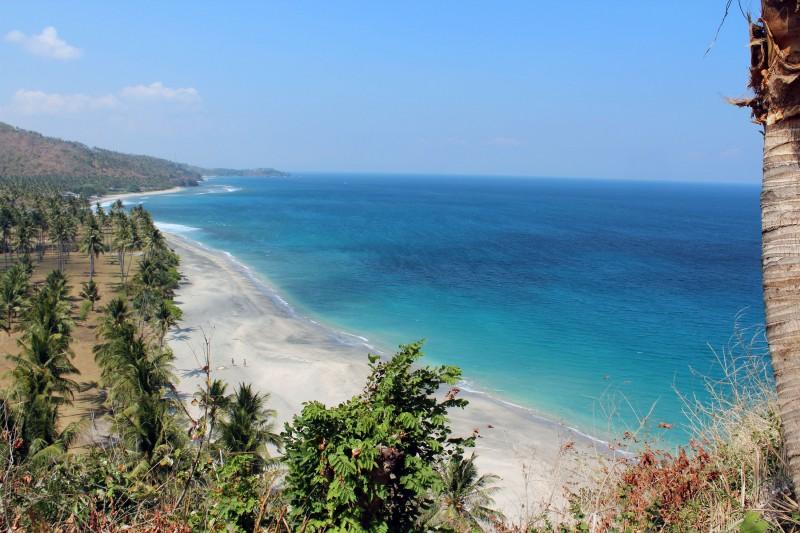 Vue plage Lombok