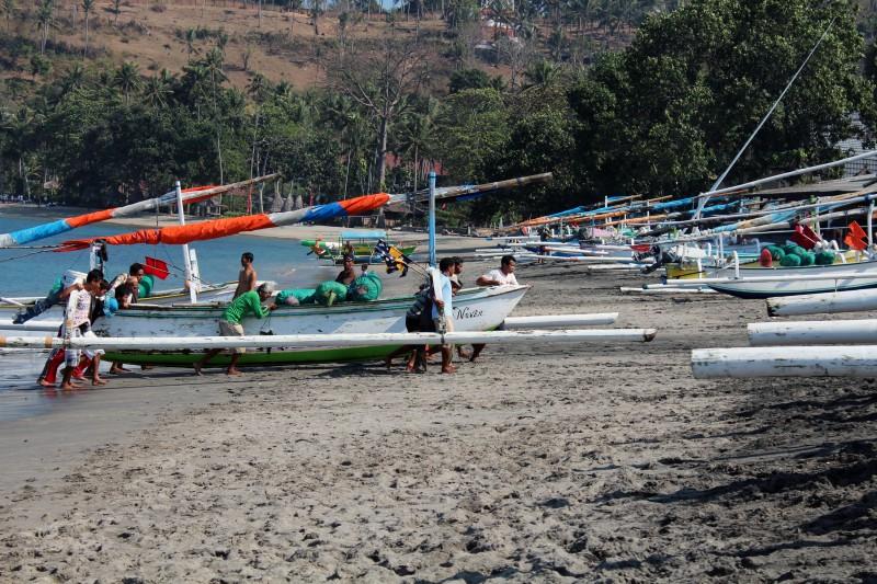 Lombok retour pêcheur