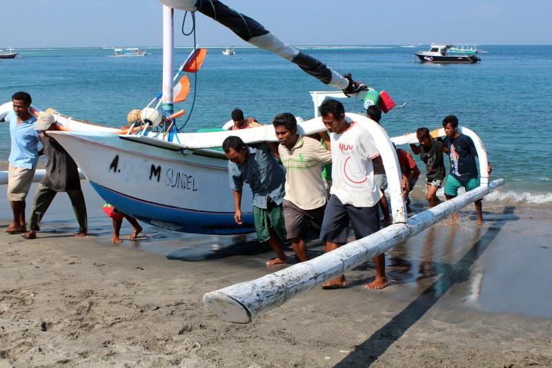 Lombok retour pêcheurs