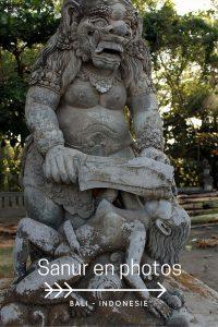 Mon séjour en photo à Sanur petite ville de Bali.
