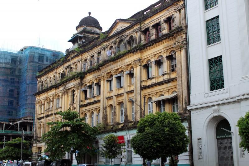 Architecture ville Yangon