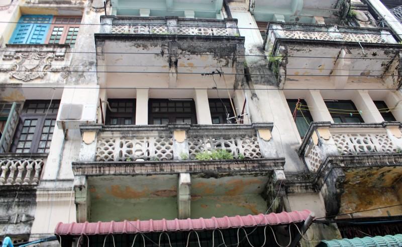 Façade batiment à Yangon