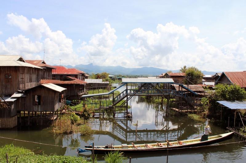 Village sur pilotis lac Inlé
