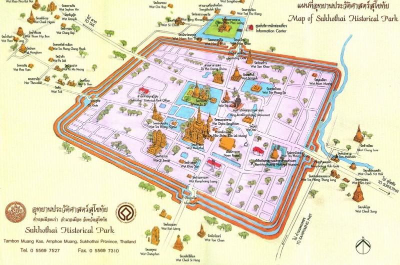 Sukhothai carte parc historique