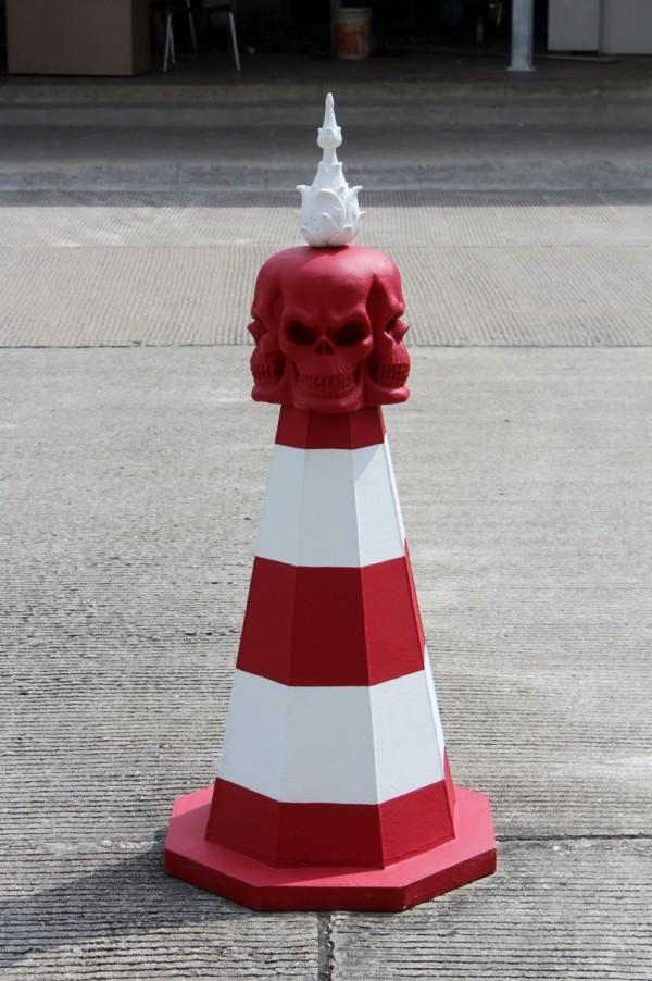 Temple blanc signalisation