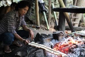Pain grillé trekking en Thailande