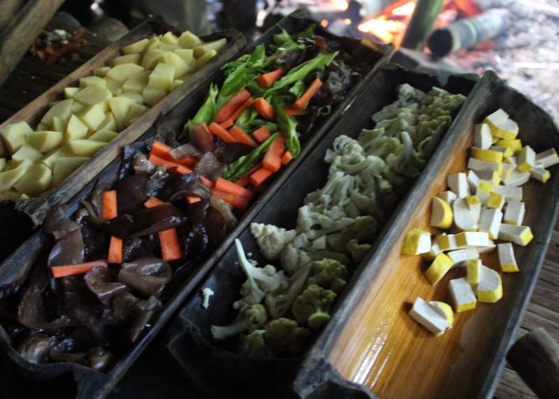 Trek en Thailande repas