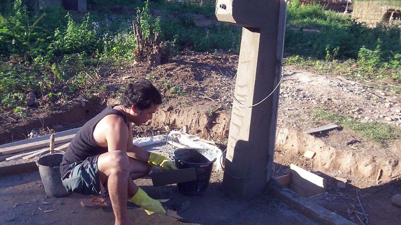 Construction fontaine