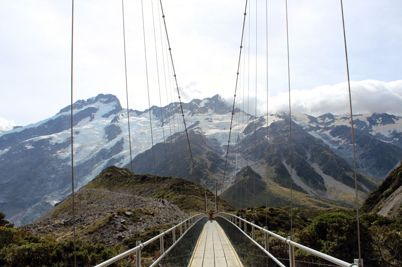 Pont suspendu Mt Cook