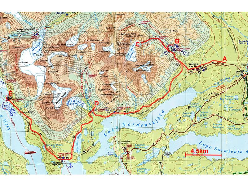 Torres del Paine circuit W