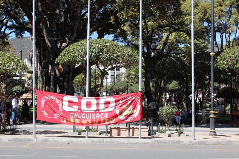 Manifestation à Sucre