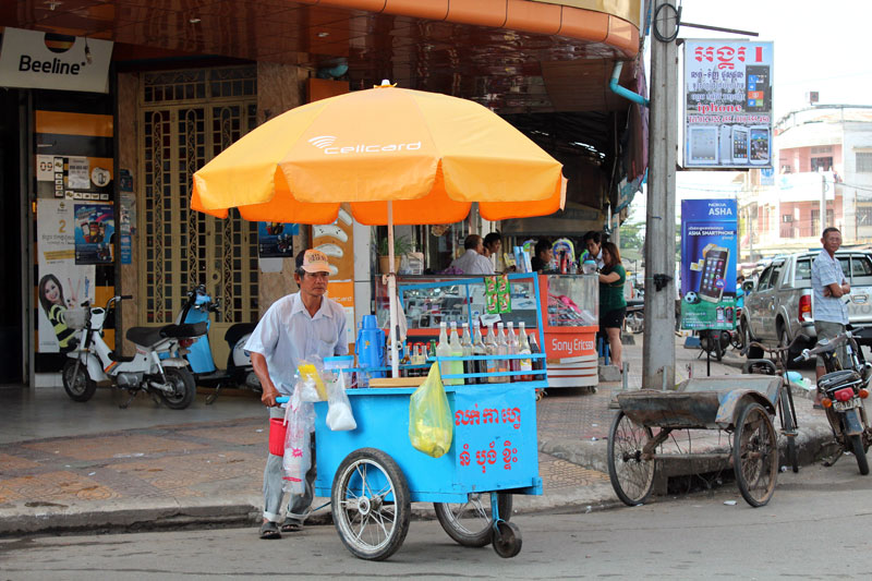 Vendeur ambulant Kompong Cham