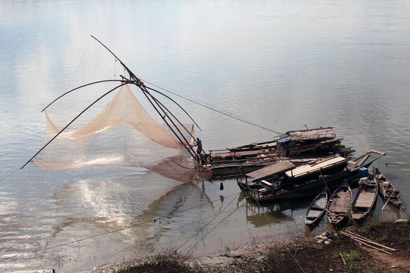 Kratie bateau de pêche