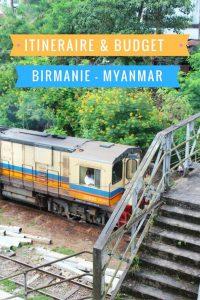 Birmanie itinéraire budget