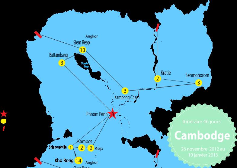 Itinéraire au Cambodge