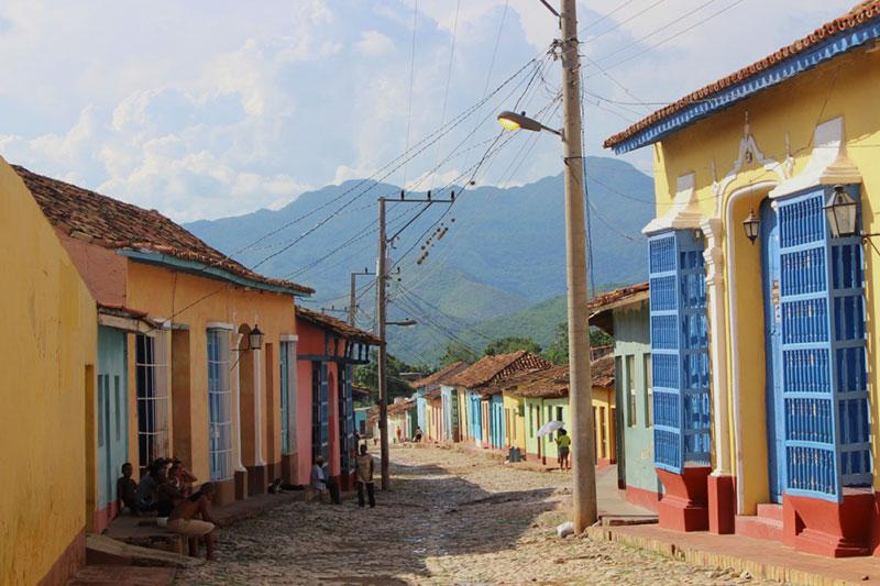 Rue pavée de Trinidad
