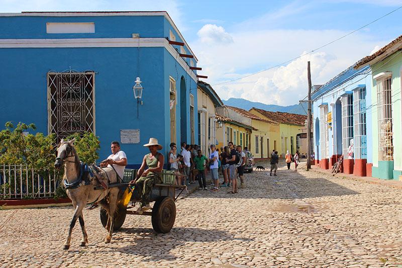 Calèche à cheval à Trinidad