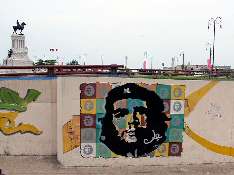 Street art à l'effigie du Che