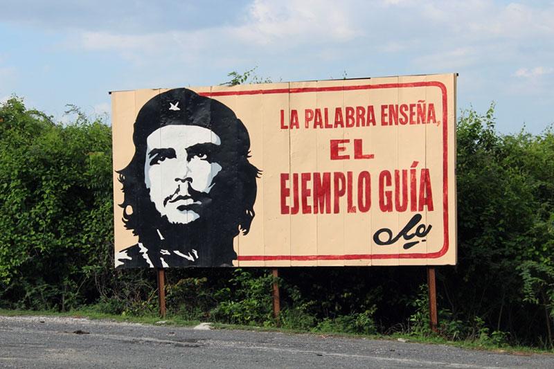 Affiche du Che à Cuba