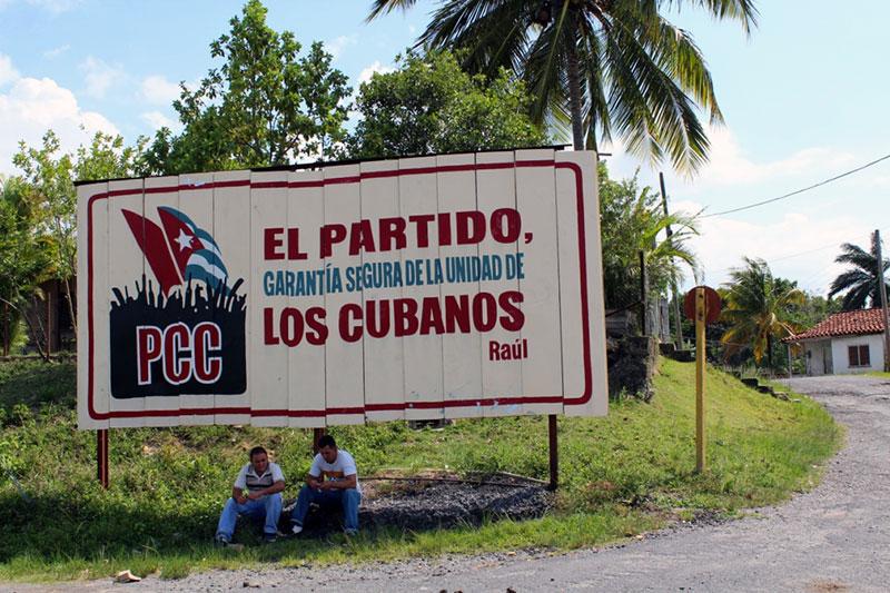 Affiche de propagande à Cuba