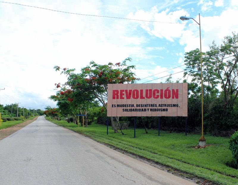 Affiche à Cuba