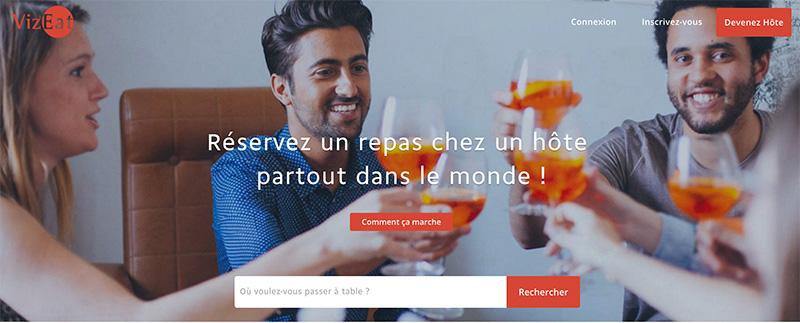 startup voyage vizeat partager un repas chez l'habitant