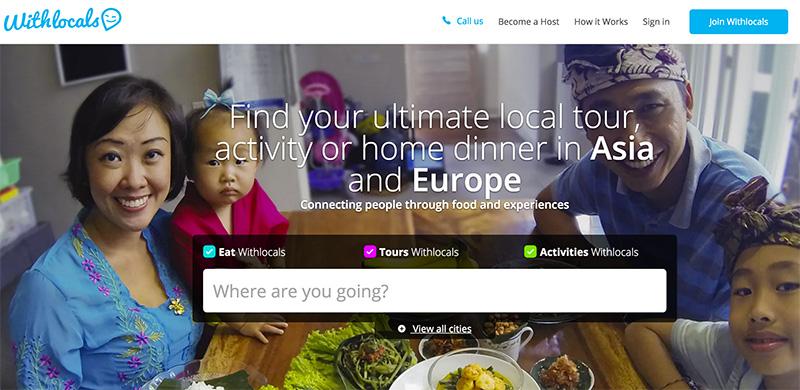 startup voyage withlocals repas chez l'habitant