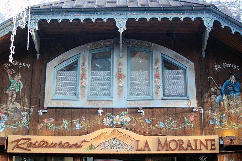 Chamonix chalet façade