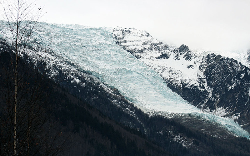 Chamonix glacier des Bossons