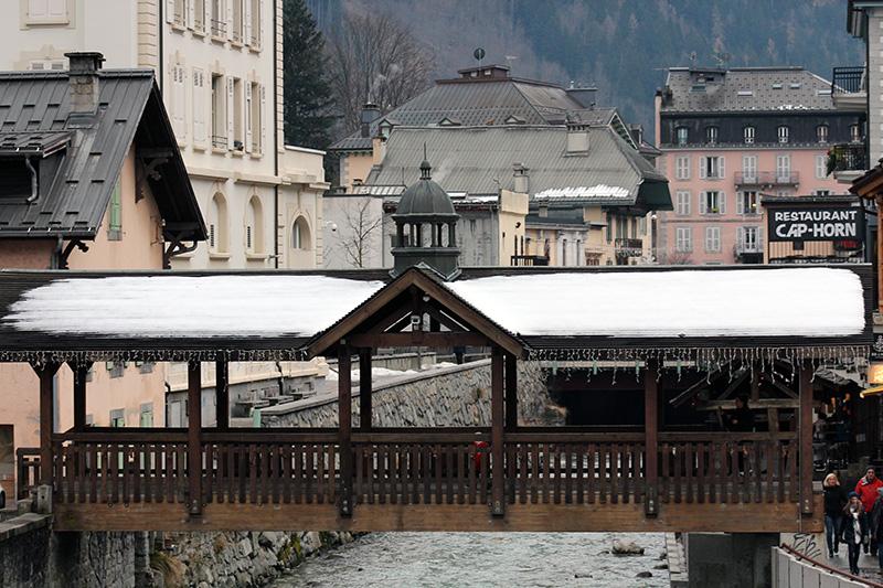 Chamonix pont de bois