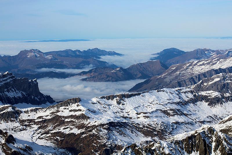 Mont Blanc lac brouillard