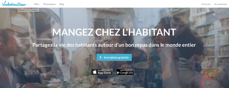 Startup voyage voulezvousdiner