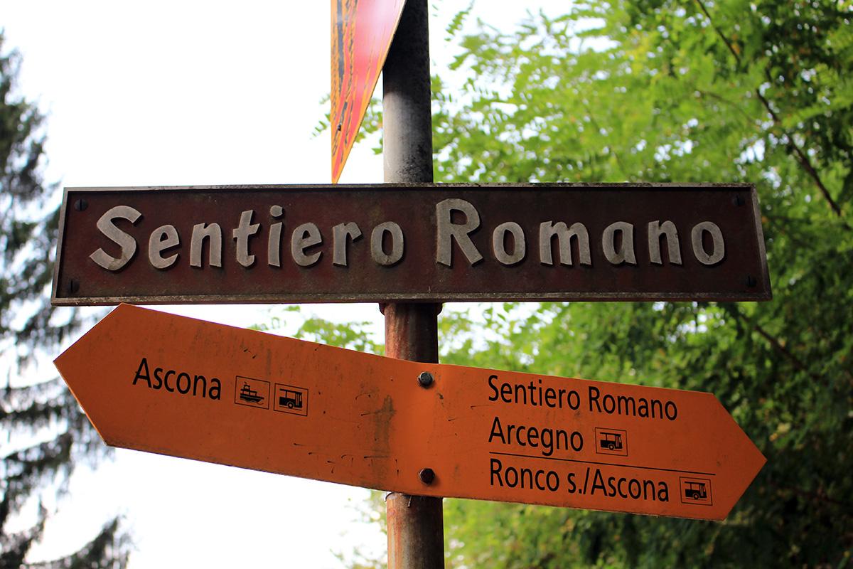 Ascona sentiero romano