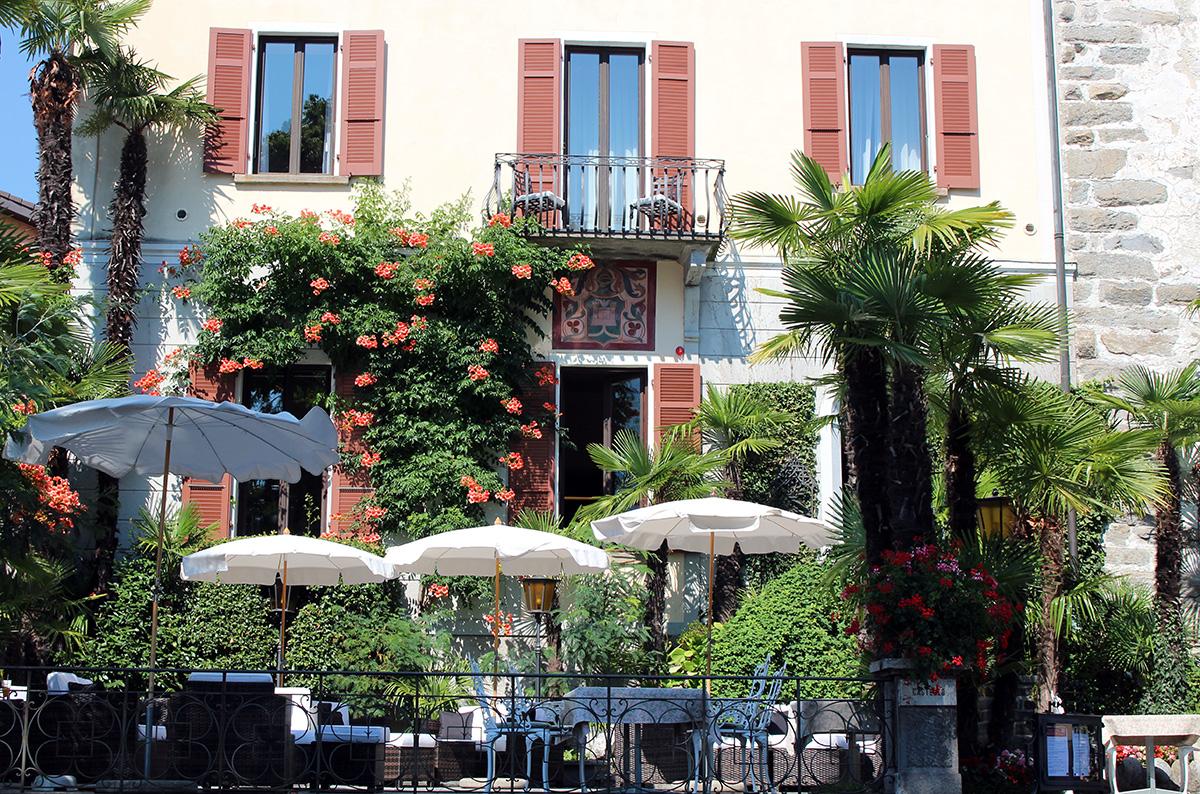 Terrasse hotel Castello Ascona