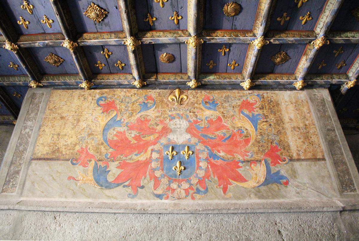 Aoste château Issogne plafond