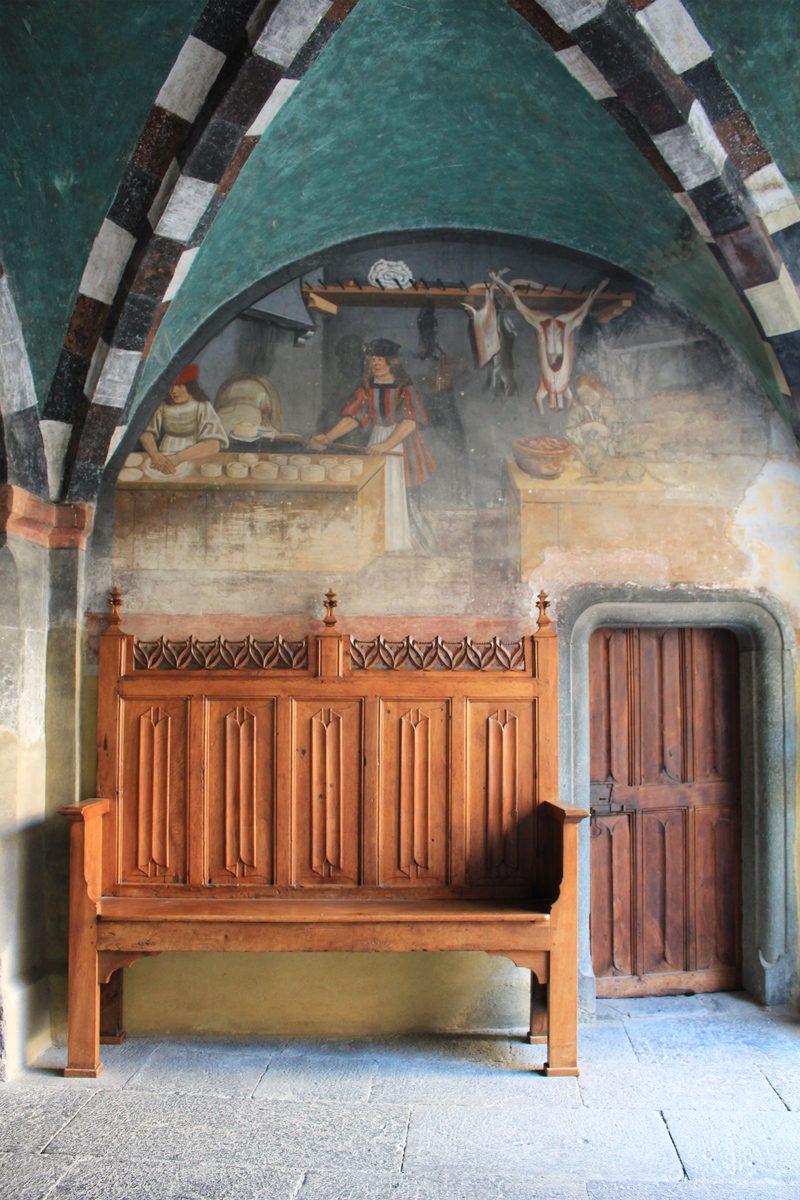 Château Issogne fresque