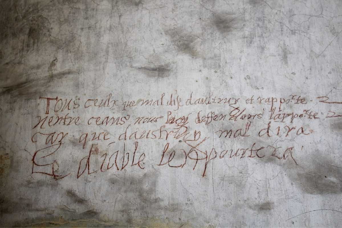 Château Issogne graffitis