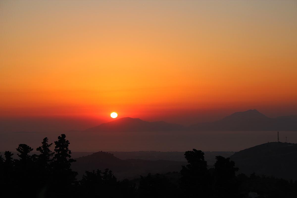 Kos Zia coucher du soleil