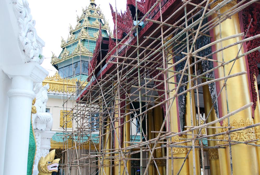 Echafaudages pagode Shwedagon