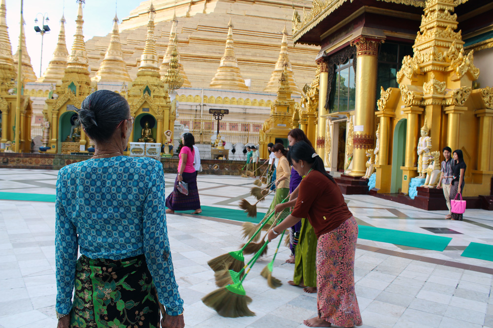 Birmanie pagode Shwedagon