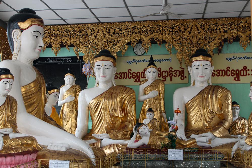 Birmanie Yangon Bouddha