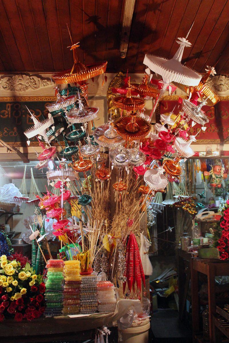 offrendes Pagode de Shwedagon