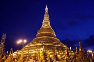 Yangon pagode Shwedagon nuit