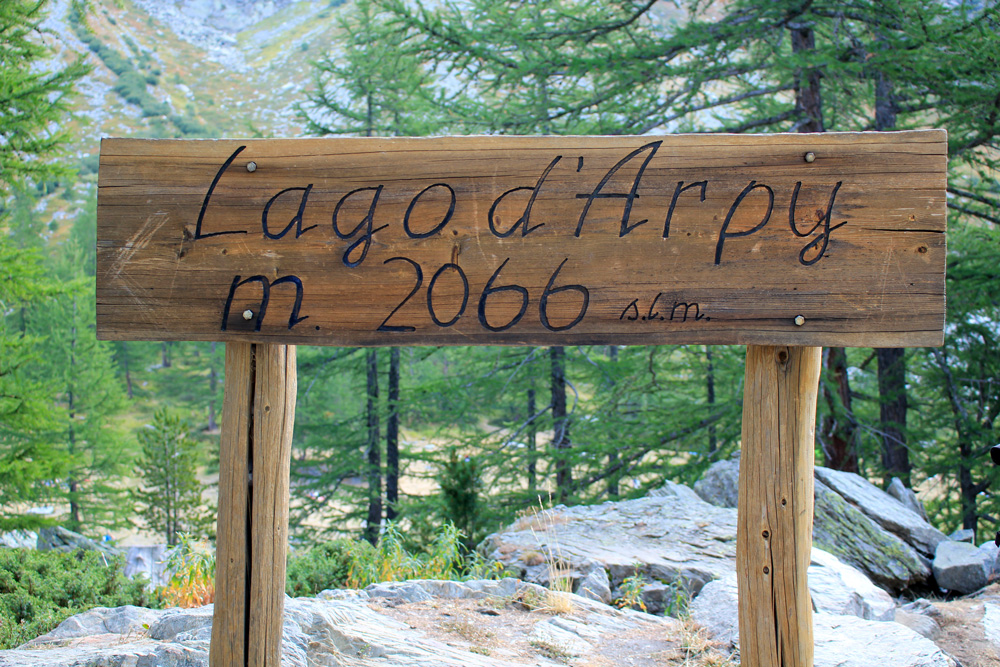 Aosta lac Arpy