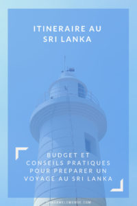 Itinéraire au Sri Lanka